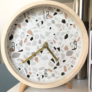 Speckled Clock W/Gold Hands